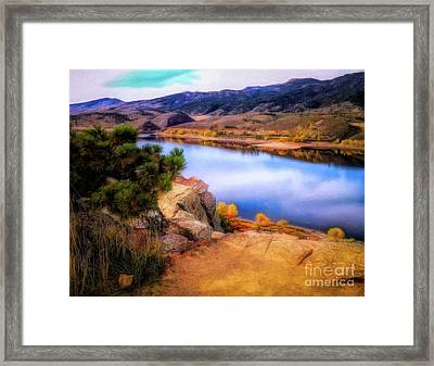 Horsetooth Lake Overlook Framed Print