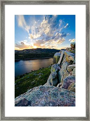 Horsetooth Reservoir, Fort Collins, Colorado Framed Print by Preston Broadfoot