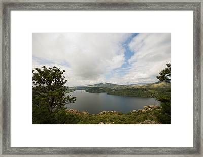 Horsetooth Reservoir Framed Print