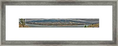 Horsetooth Reservoir Panoramic Hdr Framed Print by Aaron Burrows