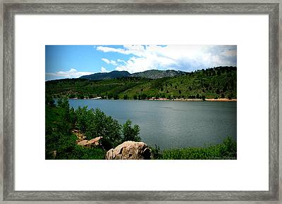 Horsetooth Reservoir Summer Framed Print