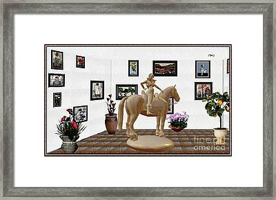 Virtual Exhibition -statue Of Horsewoman 12 Framed Print