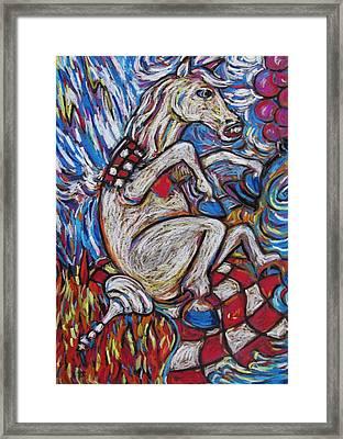Horsey Chess Star Framed Print