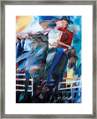 Horsey Love Framed Print by Ron Patterson