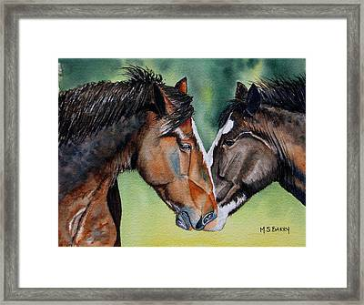 Horsing Around Framed Print by Maria Barry