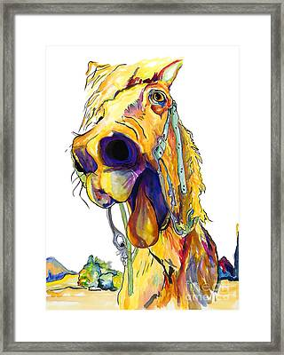 Horsing Around Framed Print by Pat Saunders-White