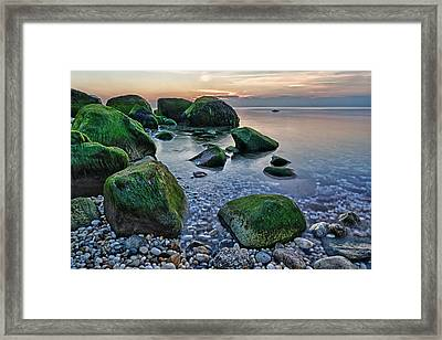 Horton Point Ny At Sunset Framed Print by Rick Berk