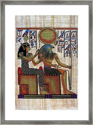 Horus And Hathor Framed Print by Bernice Williams