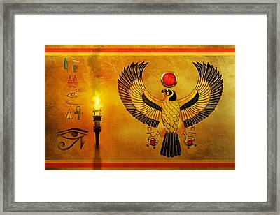 Horus Falcon God Framed Print