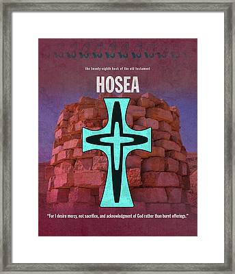 Hosea Books Of The Bible Series Old Testament Minimal Poster Art Number 28 Framed Print by Design Turnpike