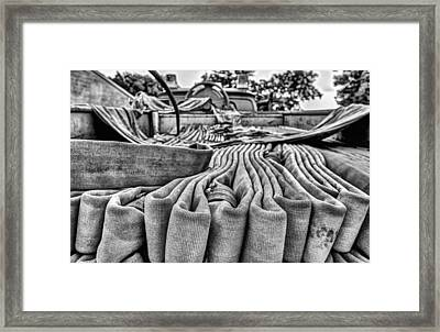 Hoses Black And White Framed Print by JC Findley