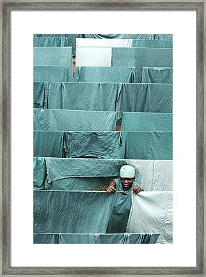 Hospital Laundry Framed Print