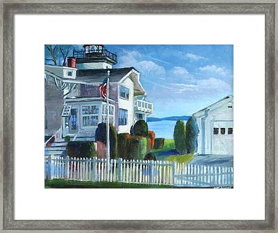 Hospital Point Light  Framed Print by Michael McDougall