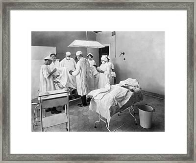 Hospital Surgical Team Framed Print