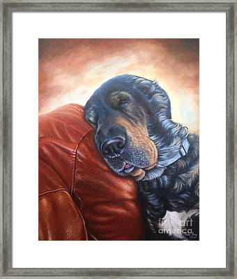 Framed Print featuring the painting Hoss by Mike Ivey