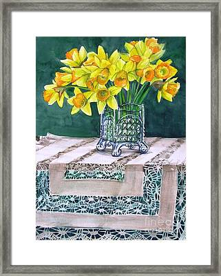 Host Of Daffodils Framed Print