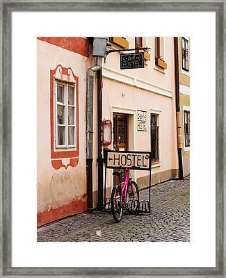 Hostel Parking Framed Print by Rae Tucker