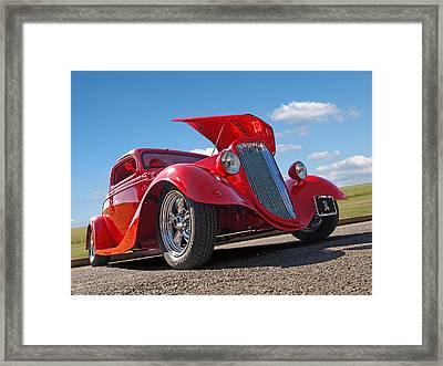 Hot '34 Framed Print by Gill Billington
