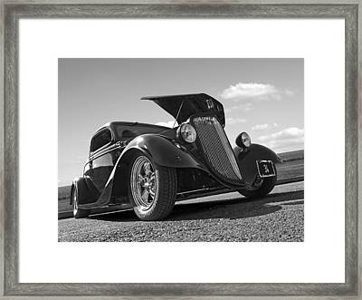 Hot '34 In Black And White Framed Print by Gill Billington