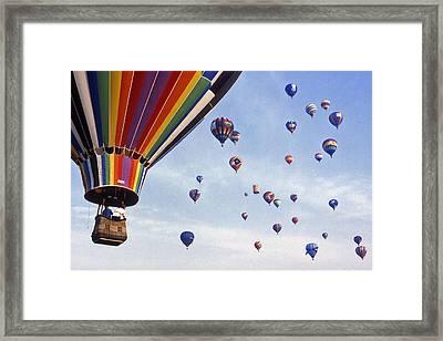 Hot Air Balloon - 12 Framed Print by Randy Muir