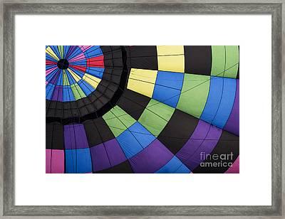 Hot Air Balloon Abstract Framed Print by Juli Scalzi