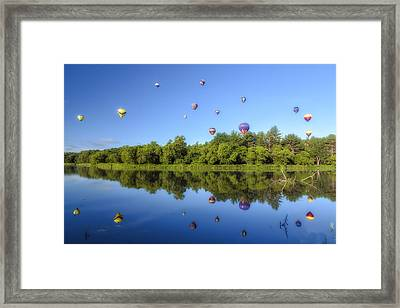 Quechee Balloon Fest Reflections Framed Print