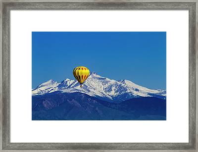 Hot Air Balloon In Colorado Framed Print by Teri Virbickis