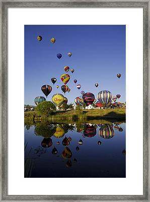 Hot Air Balloon Mass Ascension Framed Print