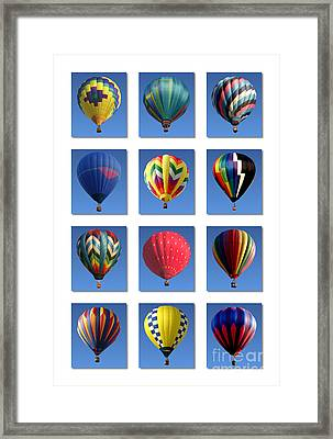 Hot Air Balloon Poster Framed Print by Olivier Le Queinec