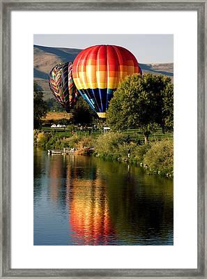 Hot Air Balloon Rally Framed Print by David Patterson