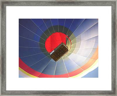 Hot Air Balloon Framed Print by Richard Mitchell