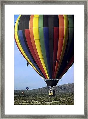Hot Air Balloon  Framed Print by Sally Weigand