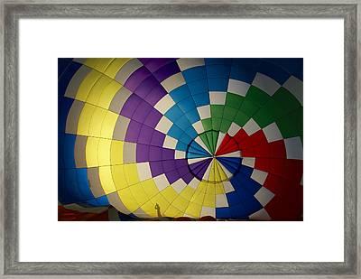 Hot Air Balloon Silhouette Framed Print