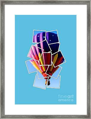 Hot Air Balloon Tee Framed Print