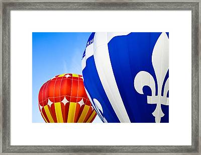 Hot Air Balloons Close-up Framed Print