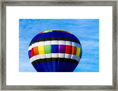 Hot Air Balloons In Blue Framed Print by Teri Virbickis