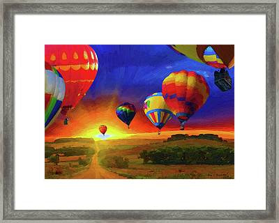 Hot Air Balloons Framed Print by Jerry L Barrett
