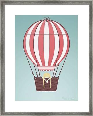 Hot Air Baloon Framed Print by Mollie Draws