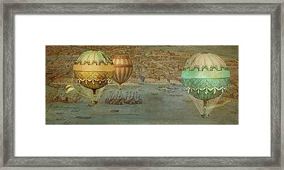 Hot Air Baloons Over Venus Framed Print