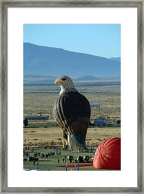 Hot Air Eagle Framed Print by Charles  Ridgway