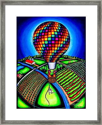 Hot Air Kats Framed Print by Laurie Tietjen