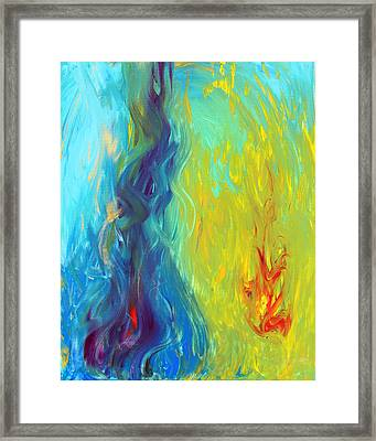 Hot And Cold Framed Print by Lola Connelly