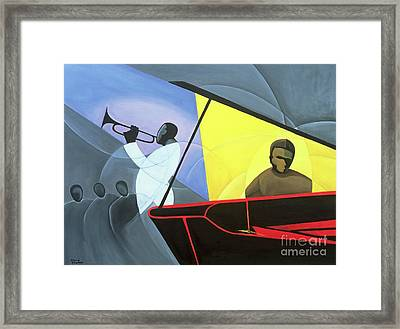 Hot And Cool Jazz Framed Print by Kaaria Mucherera