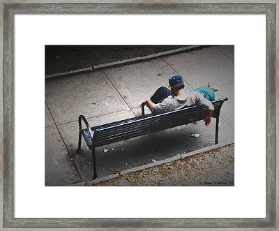 Hot And Homeless Framed Print