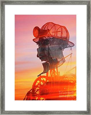 Hot And Steamy Man Engine Framed Print by Terri Waters