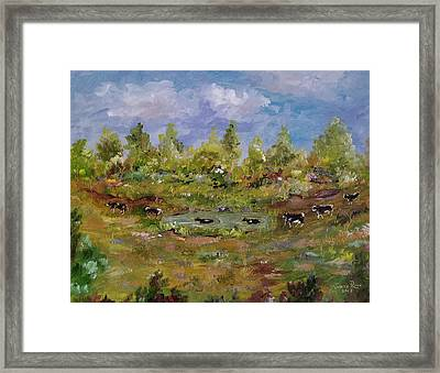 Framed Print featuring the painting Hot August Afternoon by Judith Rhue