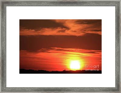 Hot August Night Framed Print by Karol Livote