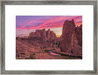 Framed Print featuring the photograph Hot August Night  by Patricia Davidson