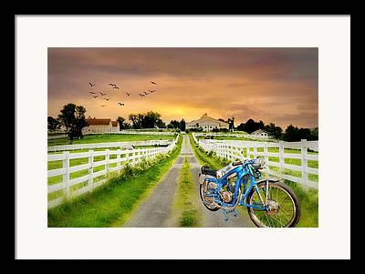 Connecticut Landscape Digital Art Framed Prints