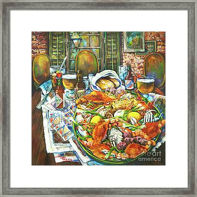 Hot Boiled Crabs Framed Print